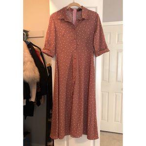 Heartsoul Vintage polka dress with waist band
